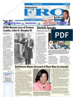 Baltimore Afro-American Newspaper, October 23, 2010