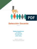 SELECCION DOCENTE ARQUITECTURA