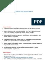 4.Simplex Method