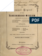 Annual Report Off a 1875 Pres