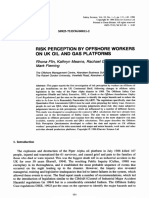 Risk Perception by Offshore Workers on Uk Oil and Gas Platforms