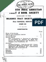 North India Christian Tract and Book Society 1928-1929 v81