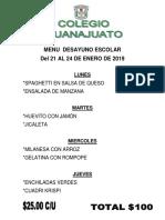 Menu Del 21 Al 24 Ene 2019