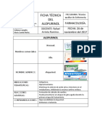 Ficha Técnica Del Alopurinol