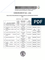 Resultados Preliminares Renovación Contratos 2019