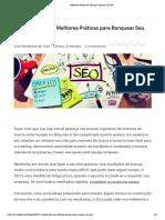 Melhores Práticas de SEO para otimizar seu site
