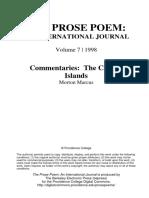 The Prose Poem Journal