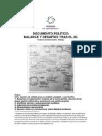 Documento Politico - Balance y desafíos tras el 2D.