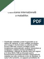 clasificarea internationala a maladiilor