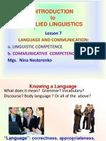 Ppt 7 Communicative vs Linguistic Competence
