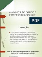 Dinamica de Grupo e Provas Situacionais (1)