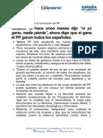 Titulares de Pablo Casado en la clausura de la  Convención Nacional del PP
