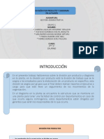 Division Por Producto y Diagrama en La Planta