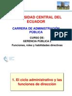 Funciones, Roles y Habilidades Directivas