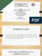 Factor Humanos y Administracion GRUPO 6