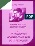 El Estudio Del Hombre como base de la pedagogía