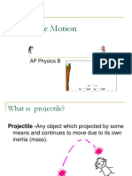 AP Physics B - Projectile Motion