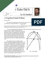 How Euler Did It_Sandifer