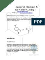 Melatonin by Nootropics Information