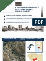 Reglamento de Acondicionamiento Territorial y Desarrollo Urbano Sostenible