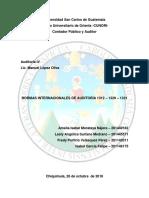 Normas Internacionales de Auditoría Interna 1312 - 1320 - 1321