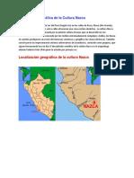 Ubicación Geográfica de La Cultura Nazca