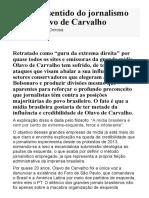 O Ódio Ressentido Do Jornalismo Contra Olavo de Carvalho - Estudos Nacionais