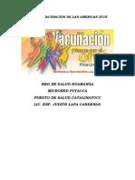 Plan de Vacunación de Las Americas 2018
