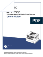 Muratec MFX-2550 User Guide