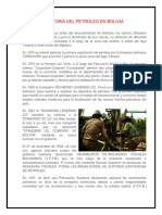 Historia Del Petroleo en Bolivia