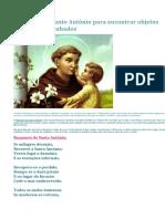 Responso de Santo António Para Encontrar Objetos Perdidos Ou Roubados