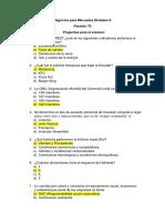 Negocios Para Mercados Globales II Preguntas Para El Examen