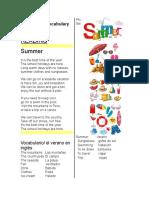 Summer Vocabulary 3ro Secundaria