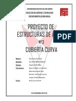 CUBIERTA CURVA PROYECTO DE ESTRUCTURAS N°3