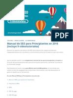 Manual de SEO para Principiantes en 2016 [9 videotutoriales].pdf