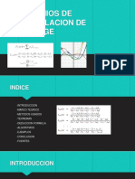 Interpolacion Polinomica De Lagrange