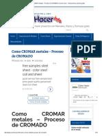 Como CROMAR Metales - Proceso de CROMADO _ Como Hacer - Instrucciones y Planos Gratis