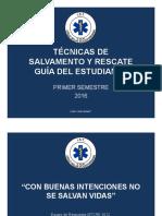 Técnica de Rescate Guía Del Estudiante 2016