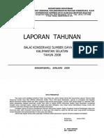 Laporan Tahunan BKSDAkalsel Tahun 2008