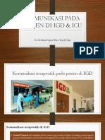Komunikasi IGD & ICU