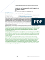 6 the Effect of Task Complexity on Fluency and Lexical Complexity of EFL Learners' Argumentative Writing