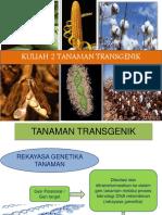 FPA 2222Kuliah 2.Tanaman Transgenik