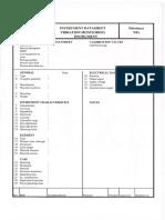 Format for Instrumentation Equipment Data Sheet