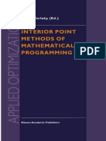 Interior Point Methods