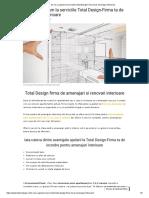 Serviciile Total Design-Firma Ta de Amenajari Interioare