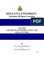AGE 300 Air Photo Interpretation and Field Course