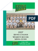 2007 Women's Soccer Media Guide