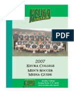 2007 Men's Soccer Media Guide