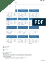 Calendario general del contribuyente 2019