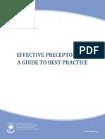 Preceptor Guidelines